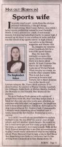 Scanned article from The Merrimack Journal