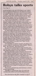 Scan of article from The Merrimack Journal